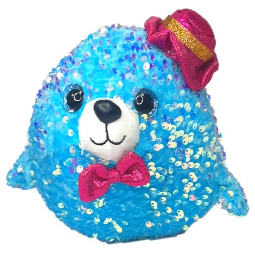 Мягкая игрушка Тюлень, 23см, цвет голубой