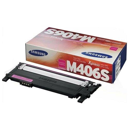 HP CLT-M406S (SU254A) Тонер-картридж оригинальный пурпурный (красный) Magenta 1K для CLP-360, CLP-365, CLP-365W, CLX-3300, CLX-3305, CLX-3305FN, CLX-3305FW, CLX-3305W; Xpress SL-C410W SL-C410, SL-C460FW SL-C460, SL-C460W