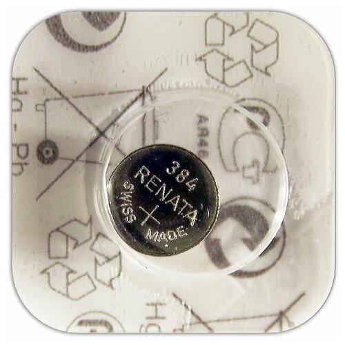 Фото - Батарейка для часов Renata 384 SR 41 W 1.55V, 45mAh, 7.9x3.6mm, в блистере 1 шт. батарейка renata r 384 sr41sw 1 шт