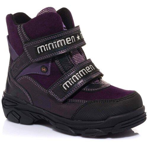 Ботинки MINIMEN размер 33, фиолетовый