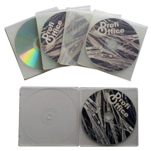 Фото - Бокс для CD/DVD дисков 4 мм, 5 шт, РrofiОffice, MB-1 7018 рок волна 1 cd dvd