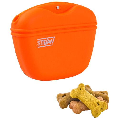Сумочка для лакомств силиконовая STEFAN, оранжевая, WF37705 stefan pätzold bochum