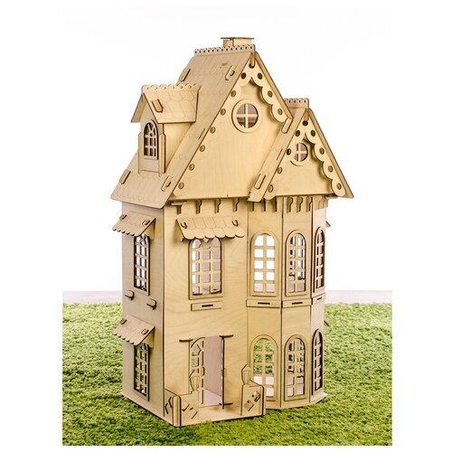 Теремок Конструктор «Кукольный домик», 2 этажа, фанера — 3 мм