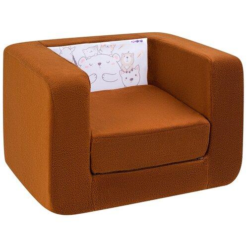 Кресло-кровать PAREMO детское PCR320 Дрими Друзья стиль 1 размер: 52х45 см, обивка: ткань, цвет: шоколад