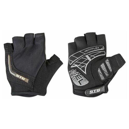 Перчатки STG, AI-03-108,unisex, летние,черные/серы