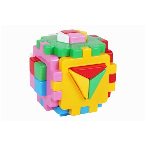 Развивающая игрушка кубик сортер для малышей мини 12 см технок умный малыш 28 элементов