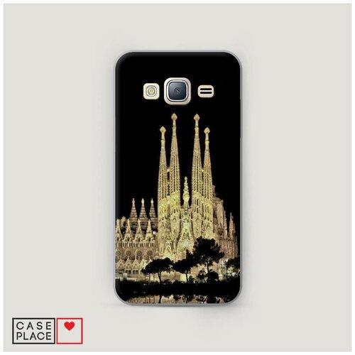 Чехол Пластиковый Samsung Galaxy J3 2016 Храм святого семейства в Барселоне 2