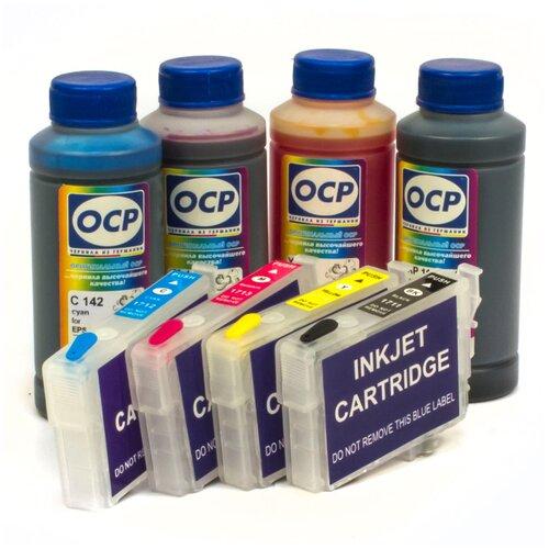 Набор перезаправляемых картриджей и чернила OCP для Epson Expression Home XP-313, XP-323, XP-413, XP-423, XP-103, XP-203, XP-303, XP-306, XP-207, XP-406, XP-33