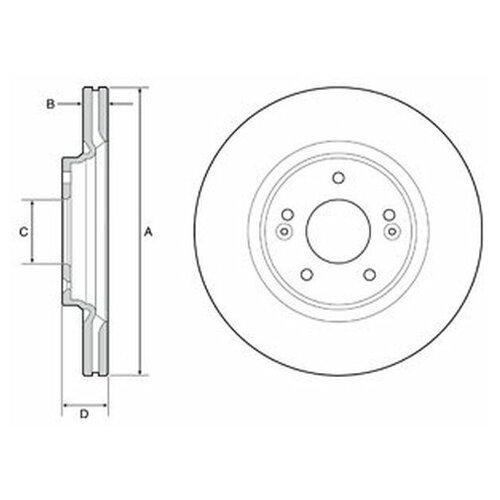 Тормозной диск Delphi BG4931C