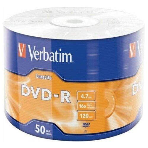 Диск DVD-R Verbatim 4.7 Gb, 16x, Shrink (50), DataLife (50/600)