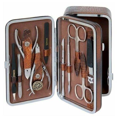 Фото - Маникюрный набор Zinger MS 1201-804 SM с косметичкой, 10 предметов маникюрный набор с косметичкой zinger ms 1205 804 s 10 предметов