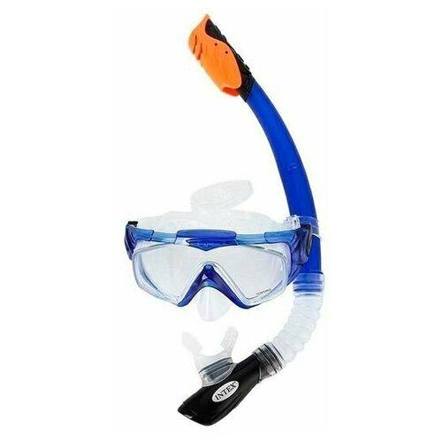 Фото - Комплект для плавания Silicone Aqua Pro (55981, 55924) от 14 лет набор для плавания intex aqua pro серый