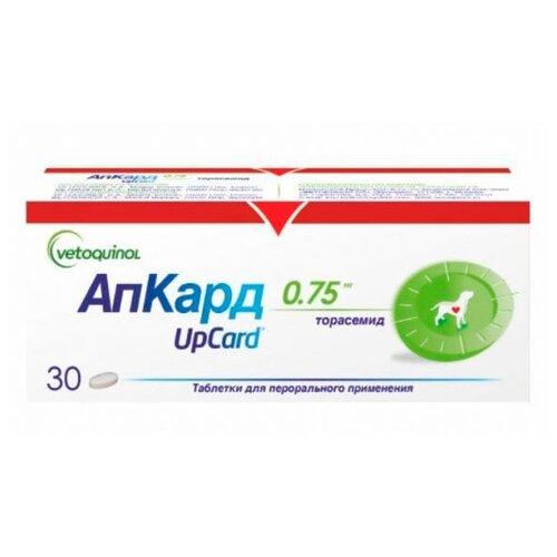 Фото - Таблетки Vetoquinol АпКард 0.75 мг, 30шт. в уп. дальнева таблетки 5мг 8мг 30шт