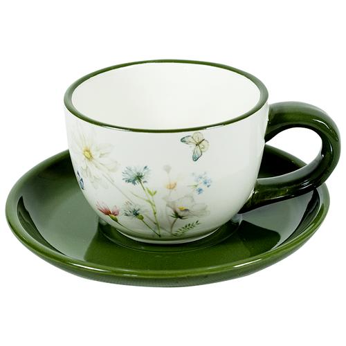 Фото - Набор чайный 4 предмета Полевые цветы (2 чайные пары 220 мл) набор чайный гималайские цветы 3 предмета churchill himf00081