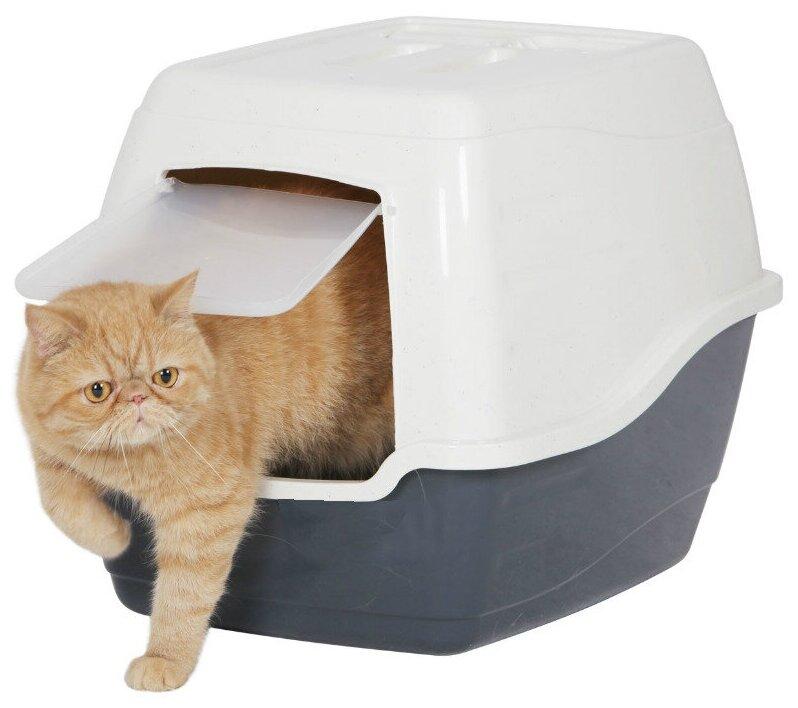 """Закрытый лоток( туалет) для кошек без боковых зажимов """"Чистый Котик"""" , 50*40*39 — купить по выгодной цене на Яндекс.Маркете"""