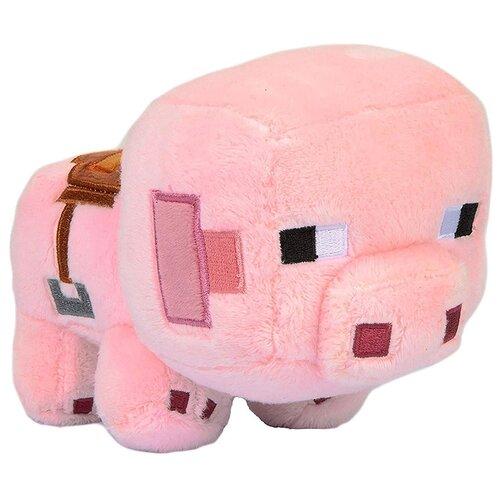 Мягкая игрушка Minecraft: Happy Explorer Saddled Pig (16см)