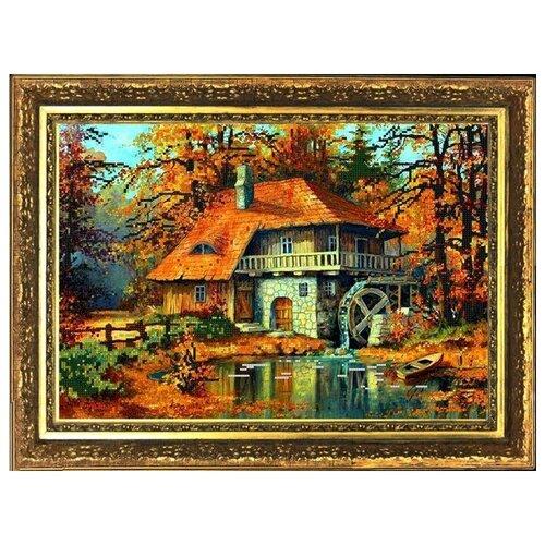 Рисунок на ткани (Бисер) конёк арт. 9833 Краски осени 29х39 см