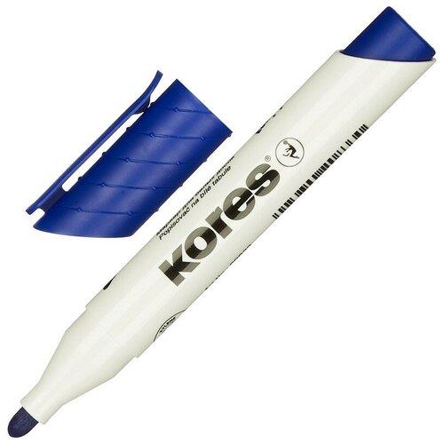 Фото - Маркер для досок KORES синий 3 мм круглый наконечник 20833 3 штуки маркер для досок kores красный 3 5 мм скошенный наконечник 20857 3 штуки
