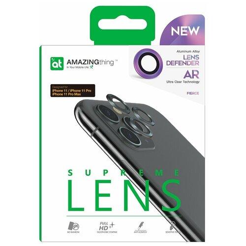 Защитное стекло для линз камеры Apple iPhone 11 Pro Amazingthing Aluminum Colorful 3шт 0.33mm / защита камеры / защита от падений / олеофобное стекло / стекло на камеру / прозрачное стекло для камеры / для защиты камеры телефона / стекло на камеру / защита от царапин / стекло основной камеры / противоударное стекло на камеру / стекло для задней камеры / защитное стекло для основной камеры телефона / накладка на камеру / стекло задней камеры / прозрачное стекло на камеру