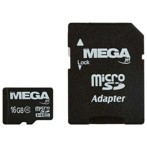 Фото - Карта памяти ProMega jet microSDHC UHS-I Cl10 + адаптер, PJ-MC-16GB eyelash lace knot front cami top and panty pj set