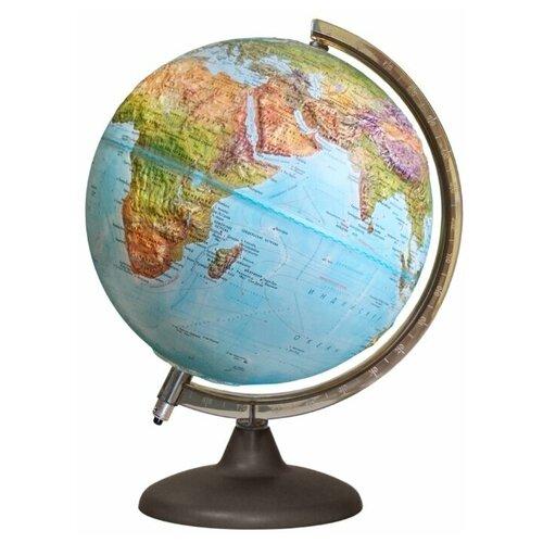 Глобус Земли «Двойная карта» рельефный с подсветкой от батареек, диаметр 250мм, 16033