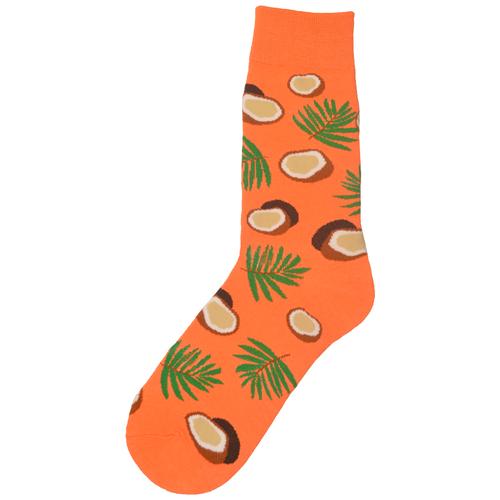 Amigobs Высокие носки с принтом/рисунком оранжевые унисекс, размер 36-41