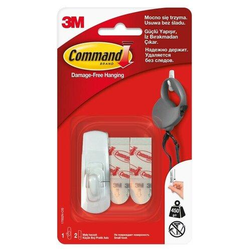 Крючок стандартный малый COMMAND, арт 17002N,1шт/уп 4 шт.