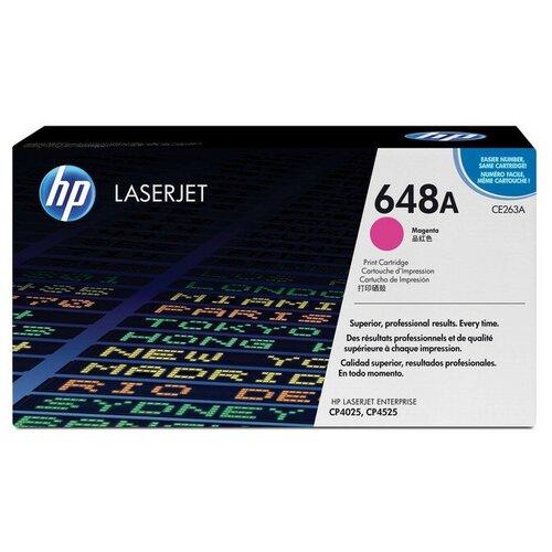 Фото - Картридж лазерный HP 648А CE263A пурп. для CLJ CP4025/CP4525 картридж bion bcr ce263a magenta для hp clj cp4025 cp4525 1816389