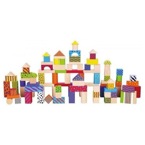 Купить Конструктор VIGA блочный 100 деталей в ведре, VIGATOYS, Детские кубики