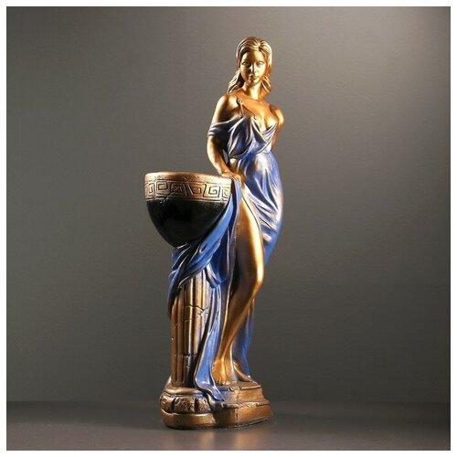 Хорошие сувениры Фигура с кашпо Девушка Дана бронза цветная 81см микс фигура с кашпо гречанка большая бронза 88см 4253601