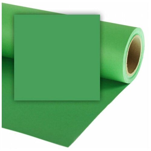 Фото - Фон Colorama Greenscreen, бумажный, 3.55 х 15 м, зеленый фон бумажный colorama ll co531 1 35x11 м maize