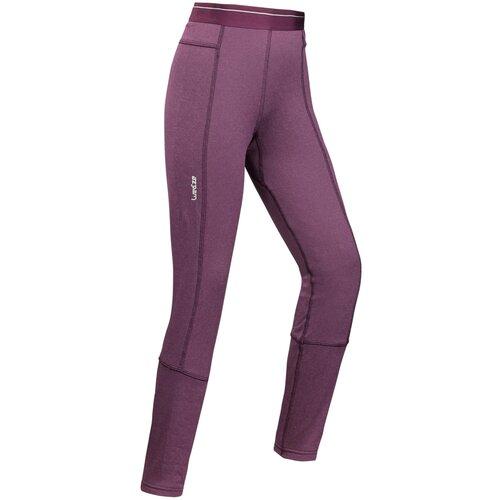 Термобелье (низ) лыжное детское темно-фиолетовое 2warm WEDZE Х Decathlon Сливово-Бордовый 12