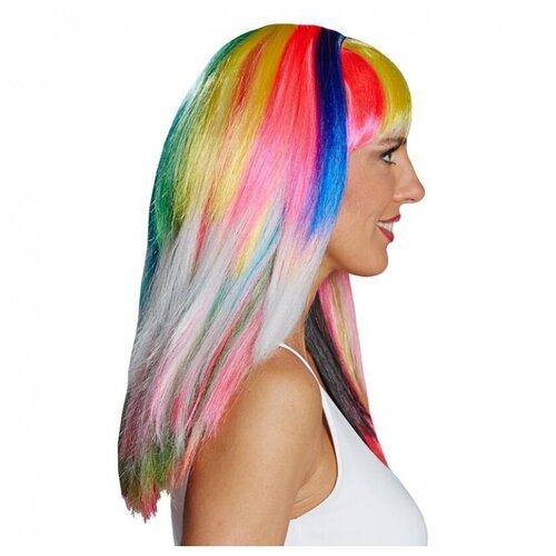 Купить Разноцветный парик с челкой (11427), RUBIE'S