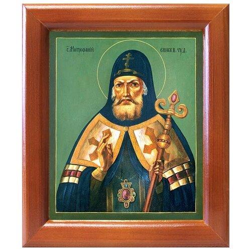 Святитель Митрофан, епископ Воронежский, икона в рамке 12,5*14,5 см