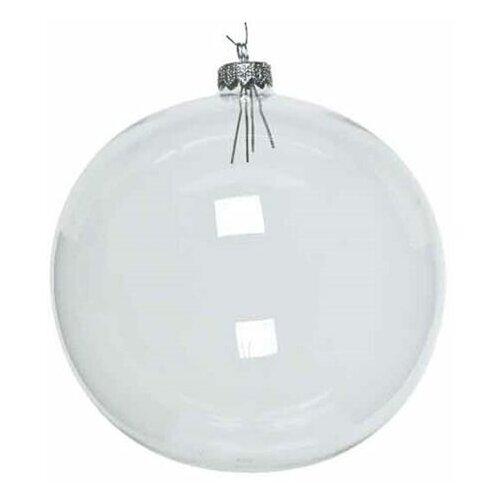 Елочный шар ROYAL CLASSIC стеклянный, цвет: прозрачный, 150 мм, Kaemingk 110026