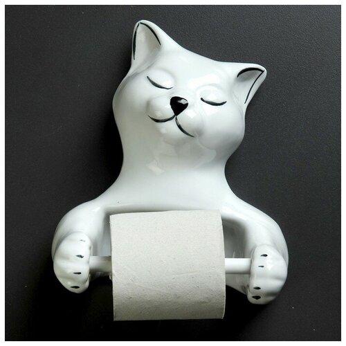 Фигурный держатель бумаги Кошка фигурный держатель бумаги ангел 50х13см
