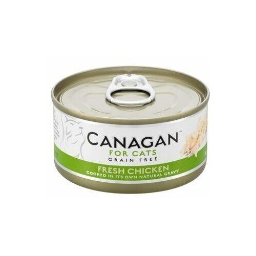 Canagan влажный корм для взрослых кошек всех пород, беззерновой, цыпленок 75 гр (10 шт)