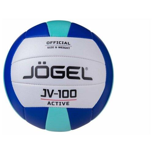 Мяч волейбольный JOGEL JV-100(синий-мятный)