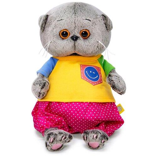 Фото - Budi Basa Мягкая игрушка Басик Baby в футболке со смайликом, 20 см игрушка мягкая budi basa басик baby в шапке панда 20 см bb 070