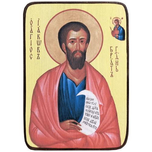 Икона Иаков брат Господень, размер 6 х 9 см