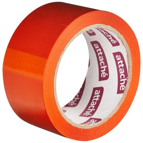 Фото - Клейкая лента упаковочная ATTACHE 48мм х 66м 45мкм оранжевый 2 шт. клейкая лента коричневая unibob 48мм 66м 45мкм 6 шт в упаковке
