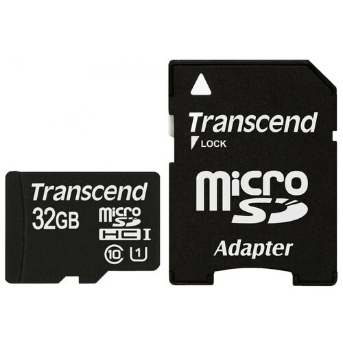 Фото - Карта памяти Transcend microSDHC Premium 400X Class 10 UHS-I U1 (60/10MB/s) 32GB + ADP карта памяти 32gb transcend cf 400x