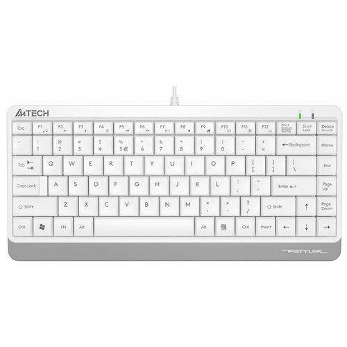 Клавиатура проводная A4 Fstyler FK11, USB, белый