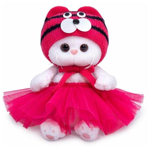 Мягкая игрушка Basik&Ko Кошечка Ли-Ли, Baby, в шапке тигренка, 20 см (LB-069)