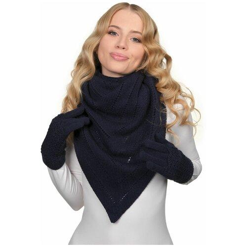 Платок LAMBONIKA Фике, цвет: темно-синий, размер: Д105*Ш145*Д110