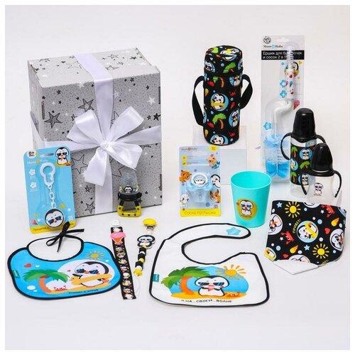 Купить Mum&Baby Подарочный промобокс, хиты для малышей «Пингвин» тм Mum&Baby, Бутылочки и ниблеры