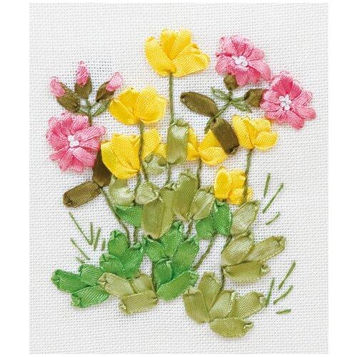 Купить Набор для вышивания лентами PANNA Лютики и медуница (C-0940), Наборы для вышивания