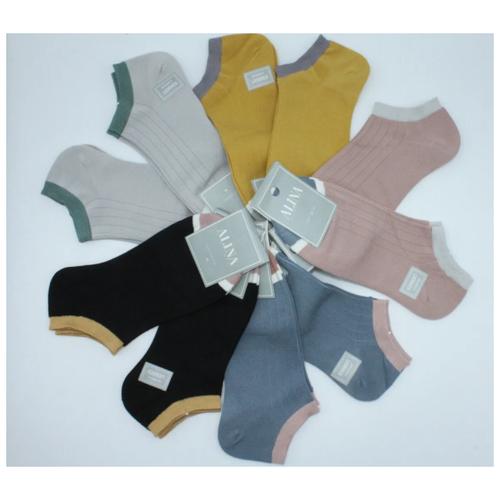 Носки женские Alina 2052 / 10 пар, серые, розовые, синие, горчичные, черные, размер 37-41