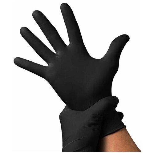 Фото - Перчатки Wally Plastic нитриловые, 50 пар, 100 шт, размер XL, цвет черный перчатки одноразовые нитриловые черные wally plastic размер m 100 шт 50 пар