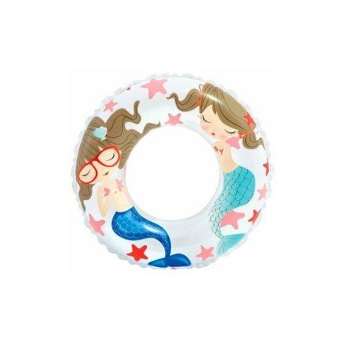 Фото - Детский круг надувной для плавания Intex, от 6 до 10 лет, 61 см, русалка надувной круг intex river rat 122см от 12лет 68209